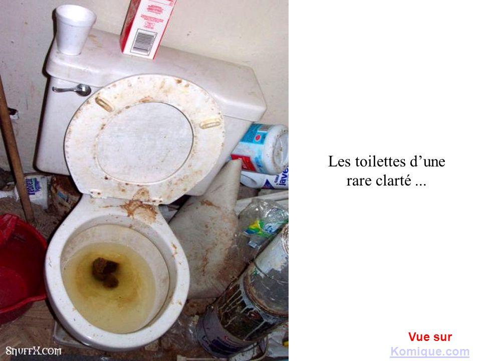 Les toilettes dune rare clarté... Vue sur Komique.com Komique.com