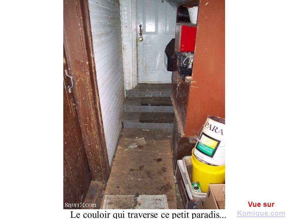 Le couloir qui traverse ce petit paradis... Vue sur Komique.com Komique.com