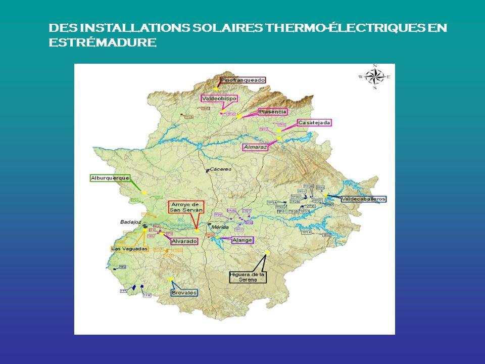 DES INSTALLATIONS SOLAIRES THERMO-ÉLECTRIQUES EN ESTRÉMADURE