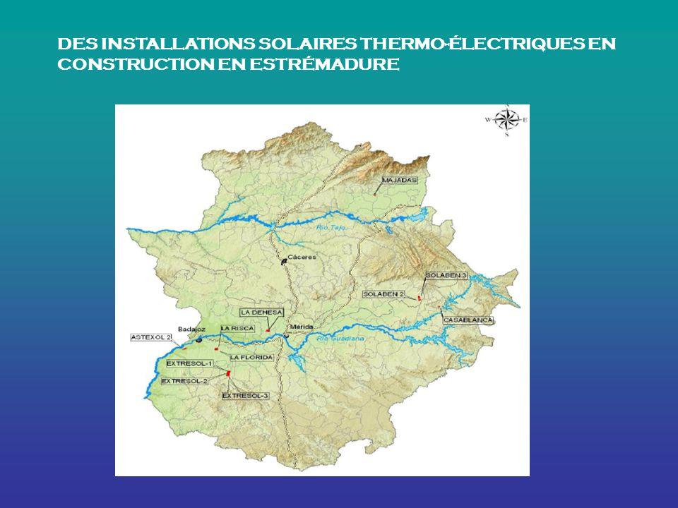 DES INSTALLATIONS SOLAIRES THERMO-ÉLECTRIQUES EN CONSTRUCTION EN ESTRÉMADURE
