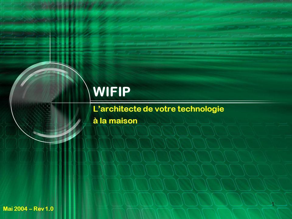 1 WIFIP Larchitecte de votre technologie à la maison Mai 2004 – Rev 1.0