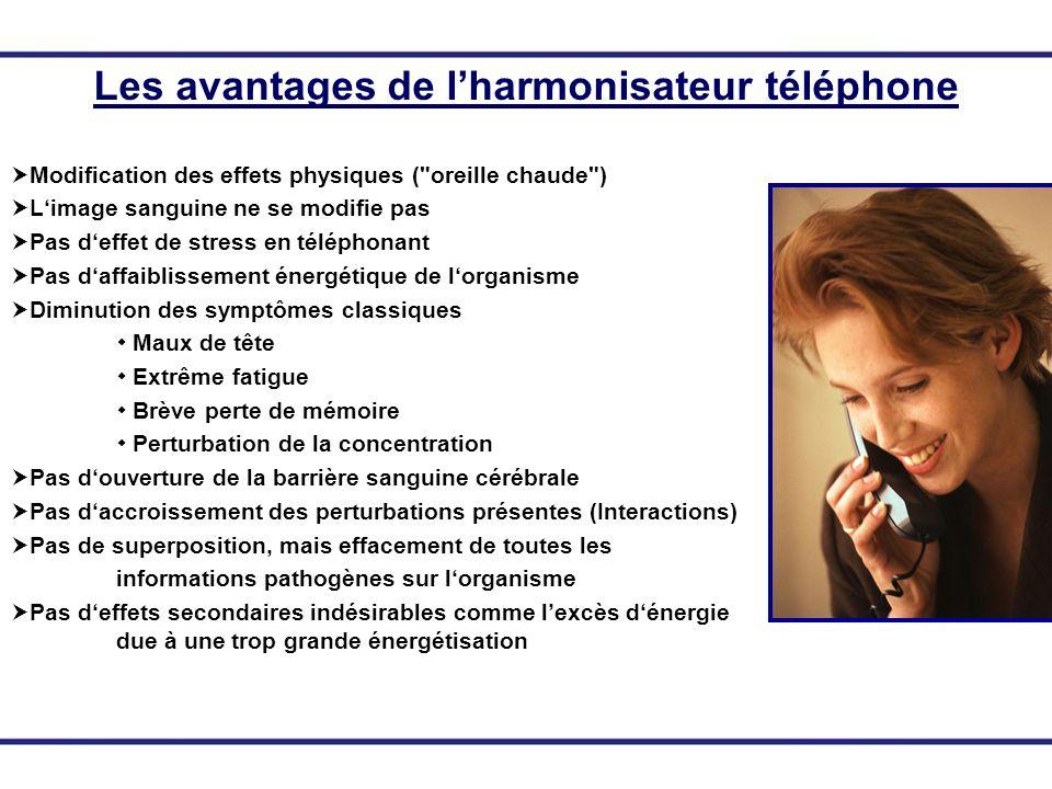 Les avantages de lharmonisateur téléphone Modification des effets physiques (