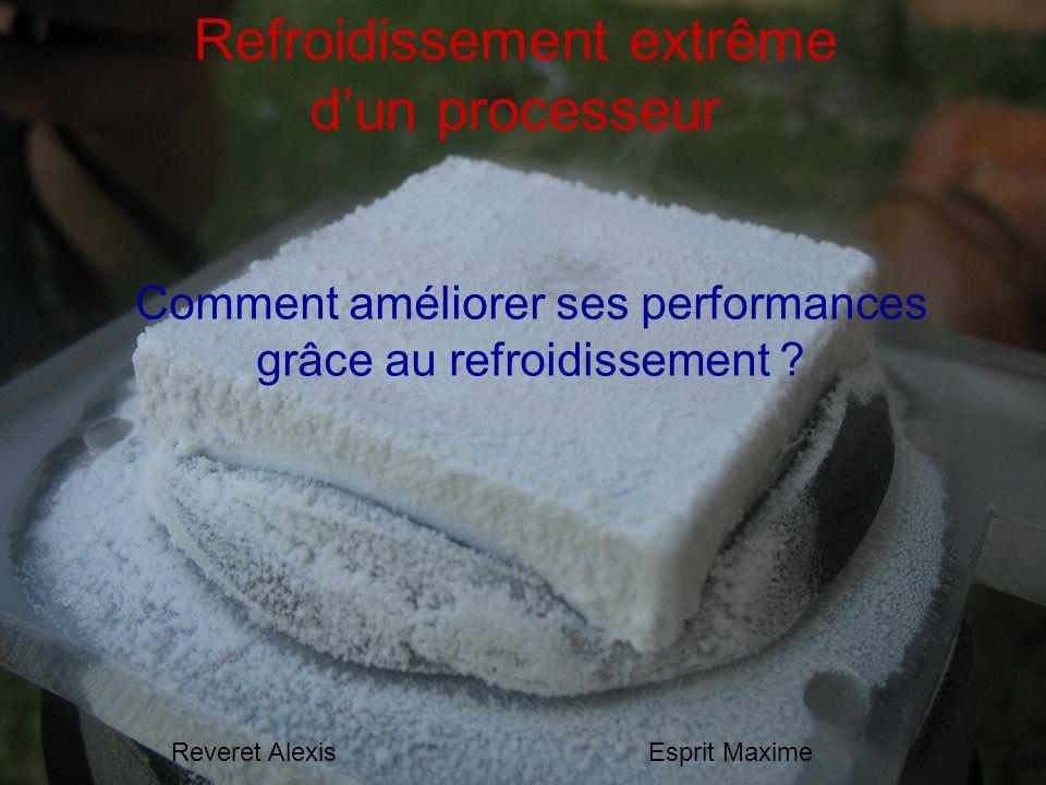 Refroidissement extrême dun processeur Comment améliorer ses performances grâce au refroidissement ? Reveret AlexisEsprit Maxime