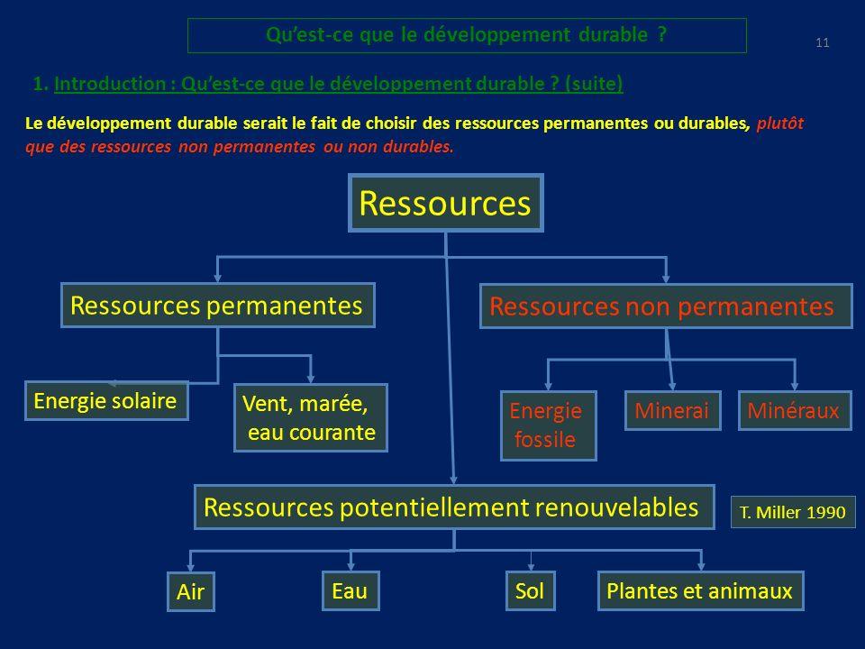10 Quest-ce que le développement durable .