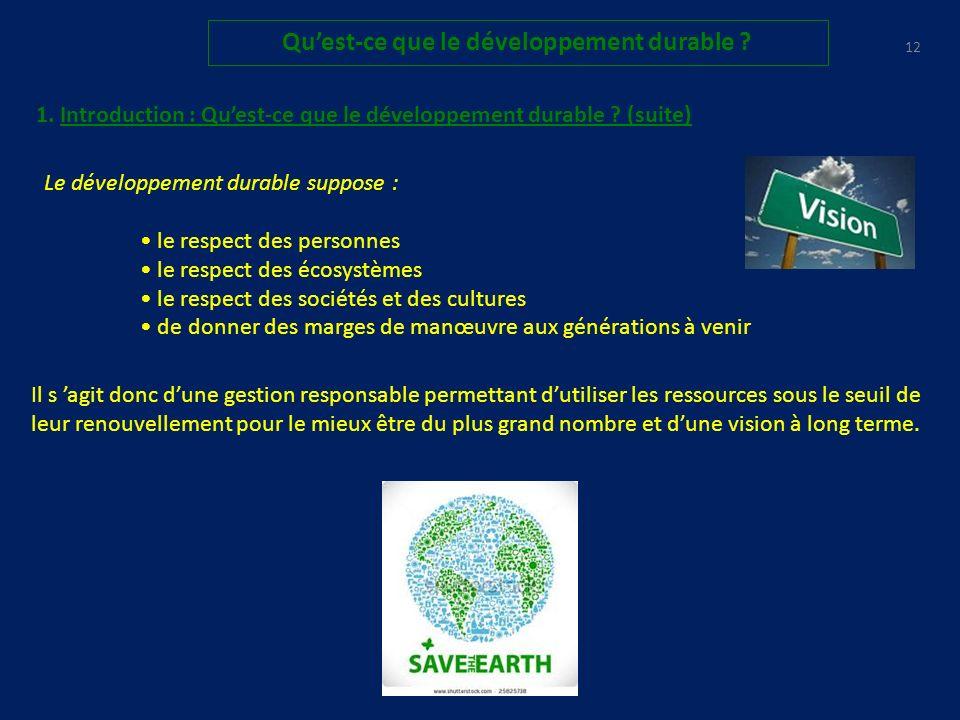 11 Quest-ce que le développement durable .T.
