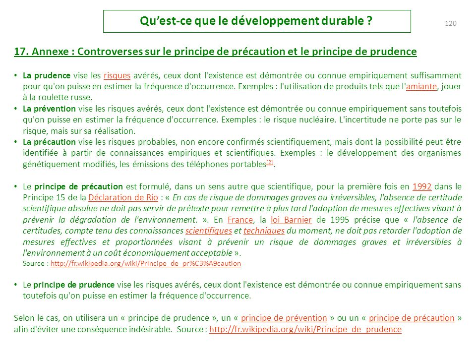 119 Quest-ce que le développement durable .16.