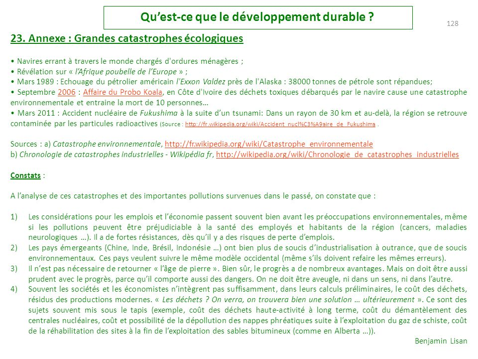127 Quest-ce que le développement durable .23.