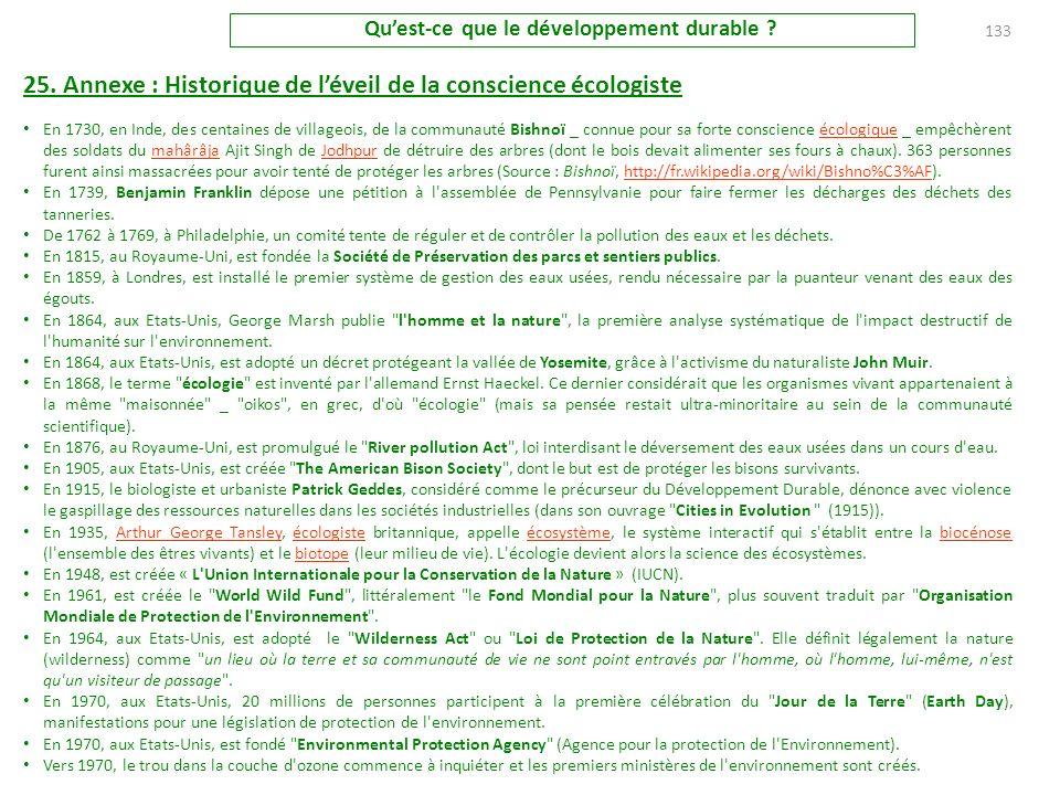 24. Annexe : Chronologie du concept (Suite & fin) 2004 : Le 8 mai Cités et Gouvernements locaux unis approuve l'Agenda 21 de la culture, qui relie les