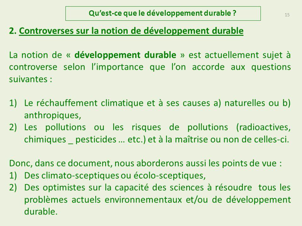 1bis.Diverses approches du « développement durable » 4.