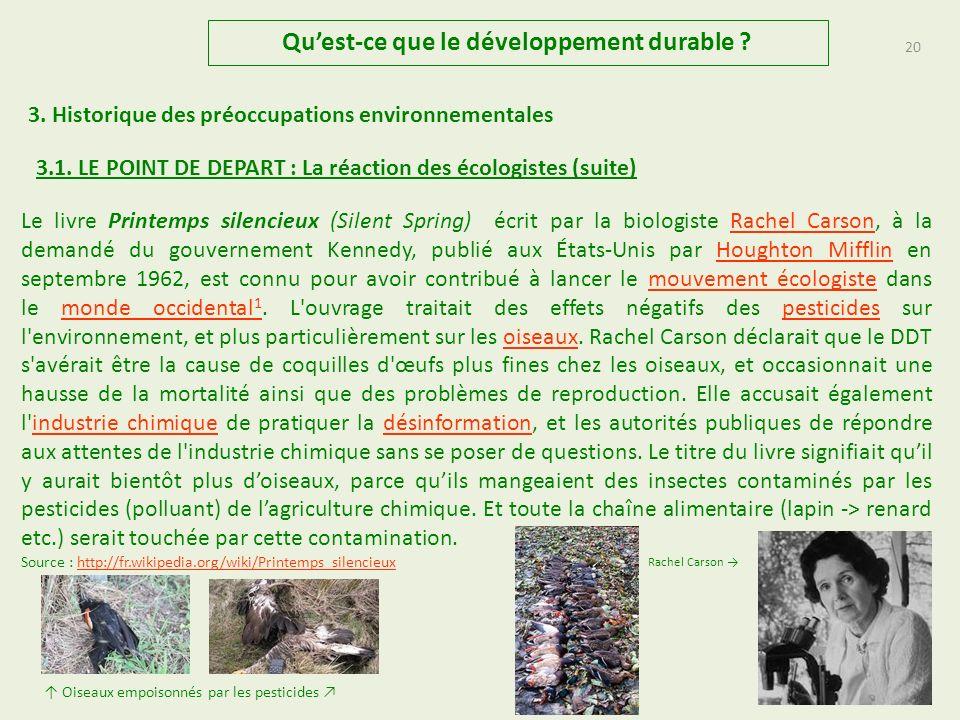 19 Quest-ce que le développement durable .3.1.
