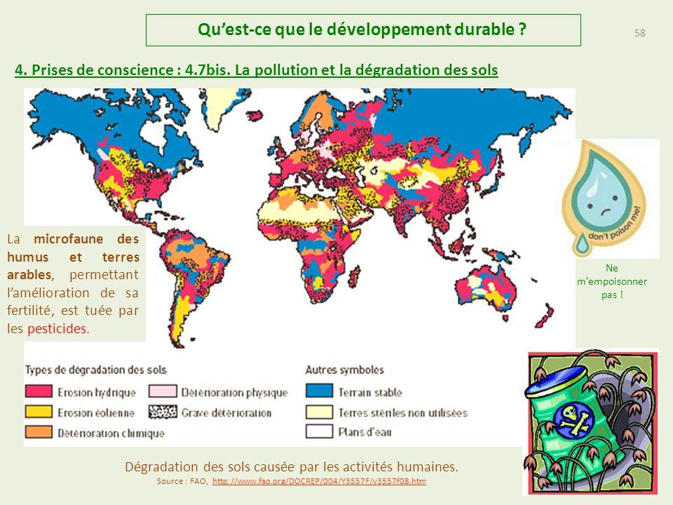 57 Quest-ce que le développement durable .4. Prises de conscience : 4.7.