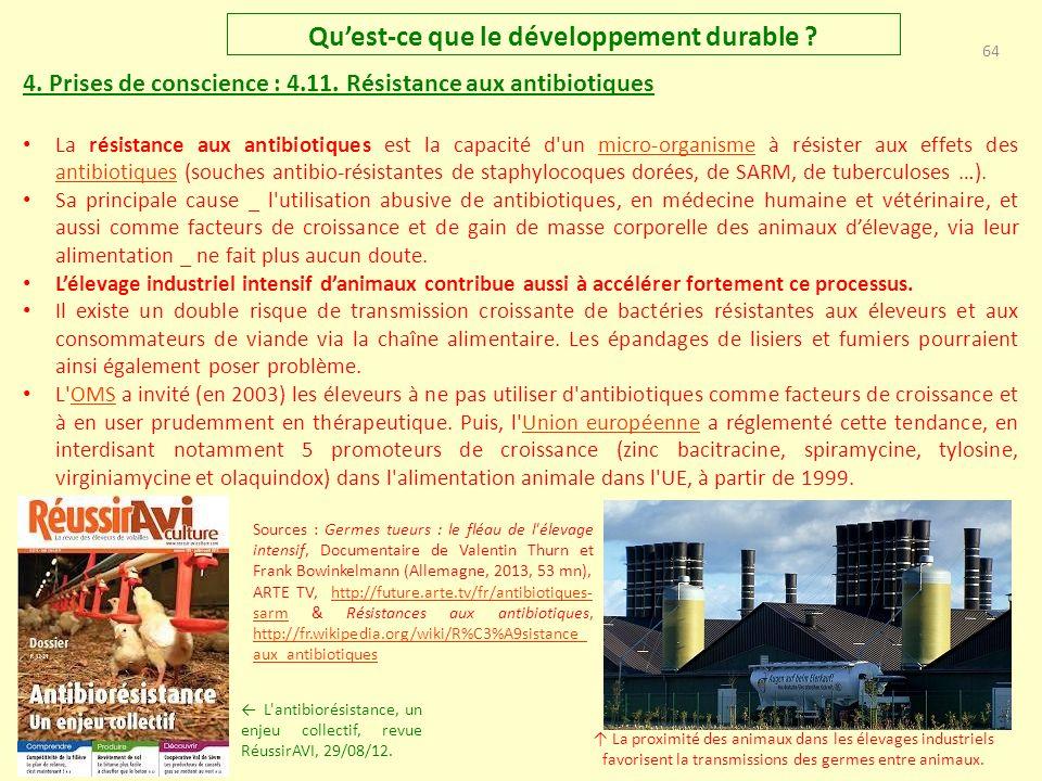 63 Quest-ce que le développement durable .4. Prises de conscience : 4.10.