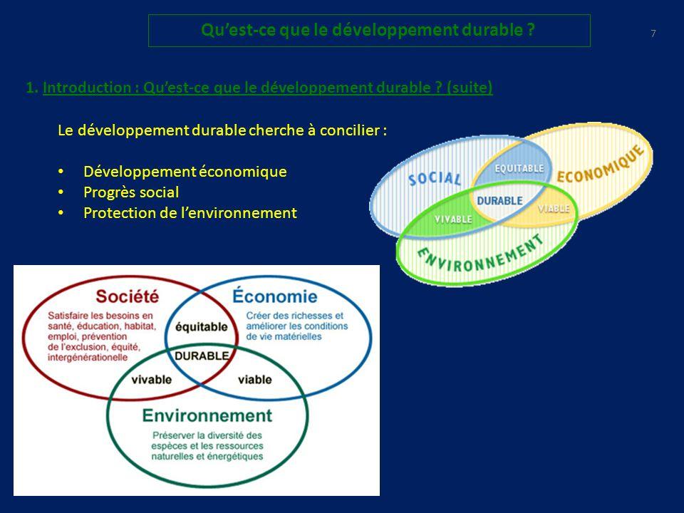 27 Quest-ce que le développement durable .4. Prises de conscience : 4.1bis.