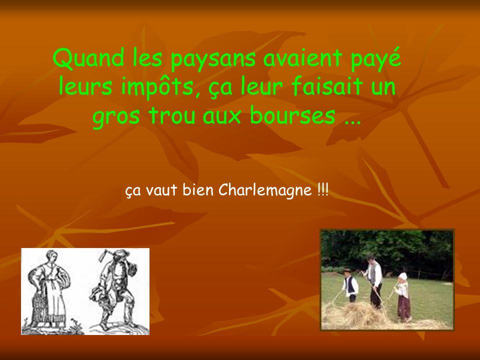 Charlemagne se fit châtrer en l an 800.... OUCH !!!!!
