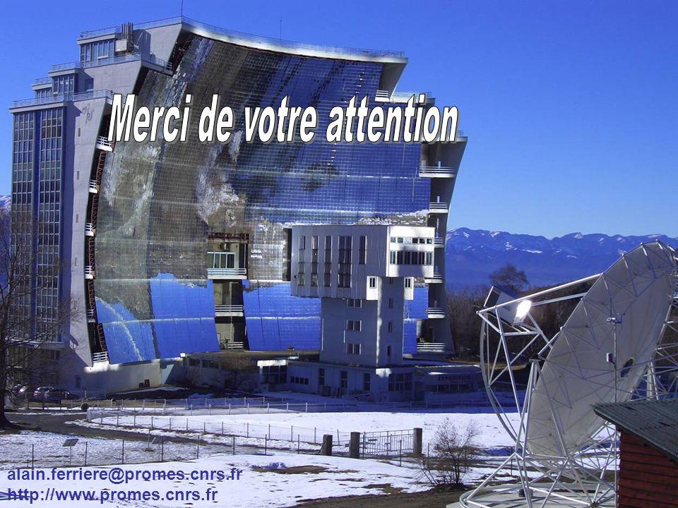 Laboratoire Procédés, Matériaux et Energie Solaire UPR-CNRS 8521 Odeillo et Perpignan A. FerriereSéminaire IPN Orsay, 17 septembre 200742 alain.ferrie
