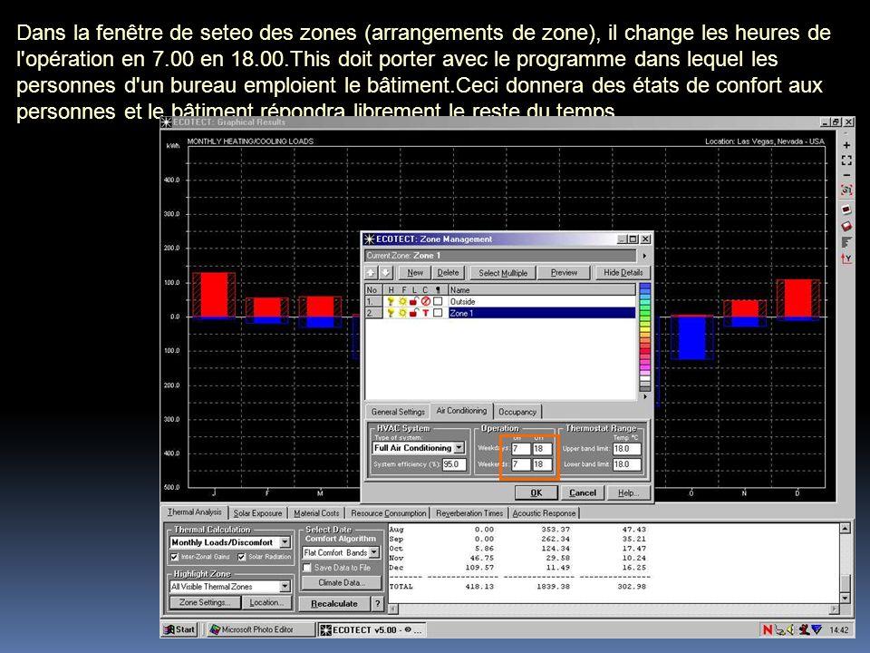 Dans la fenêtre de seteo des zones (arrangements de zone), il change les heures de l'opération en 7.00 en 18.00.This doit porter avec le programme dan