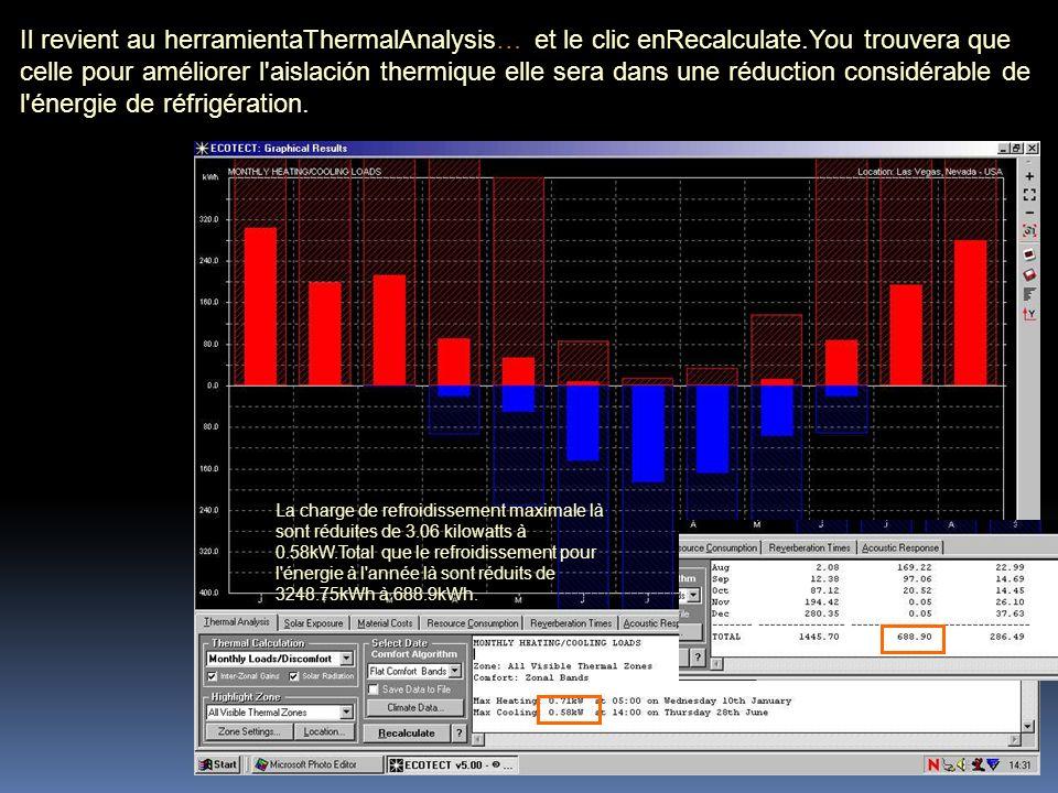 Puisque la réfrigération se produit principalement par jour et le rayonnement solaire est haut et la température d air également, la réduction de la demande n est pas aussi bien connue que dans le cas de la réfrigération.