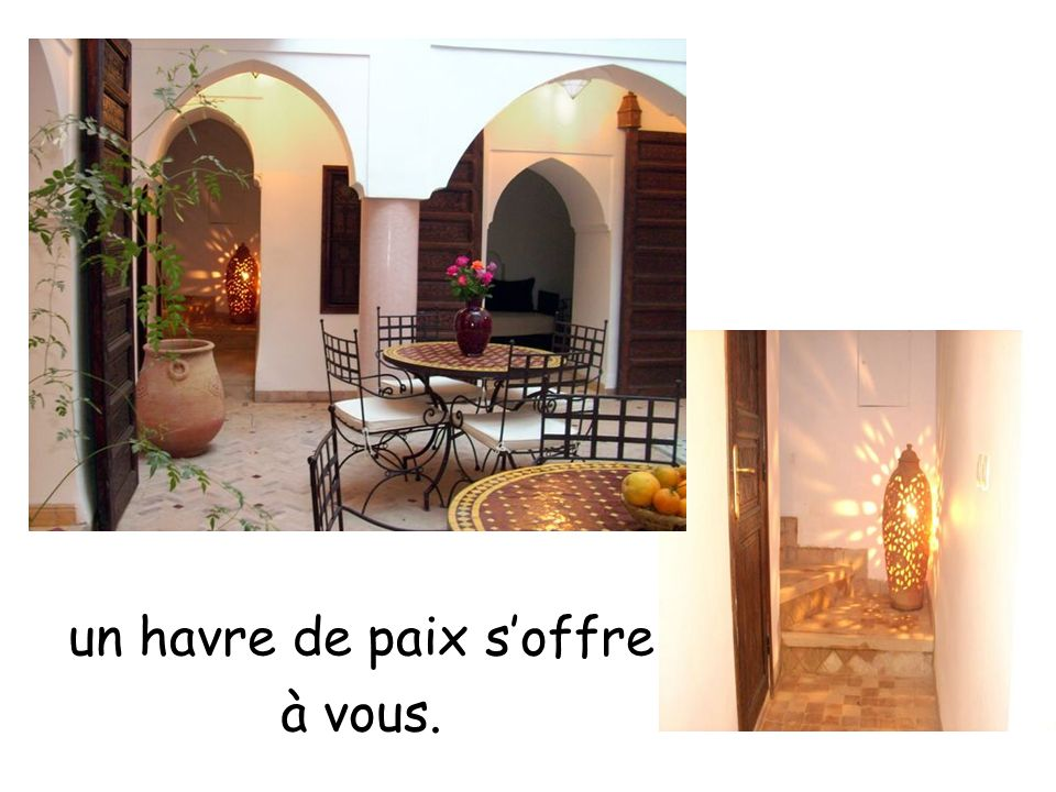 Laure et Bernard vous accueillent... Toute l'authenticité du Maroc se trouve là, devant vous. Au détour d'un derb, poussez la porte du Riad Ailen et …