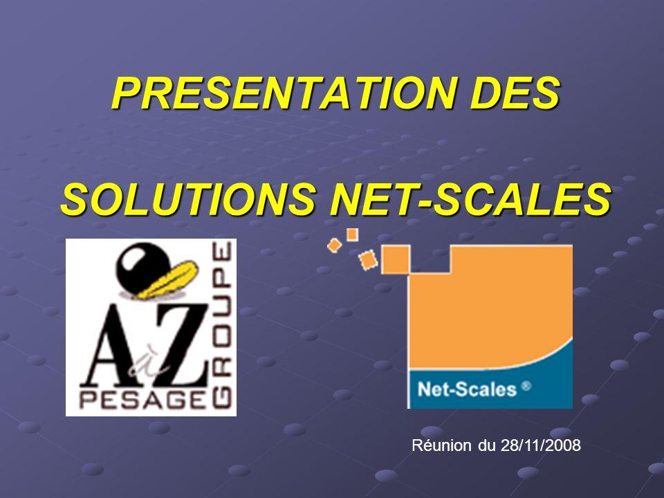 PRESENTATION DES SOLUTIONS NET-SCALES Réunion du 28/11/2008