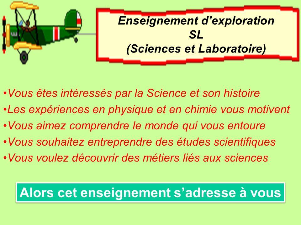 Vous êtes intéressés par la Science et son histoire Les expériences en physique et en chimie vous motivent Vous aimez comprendre le monde qui vous ent