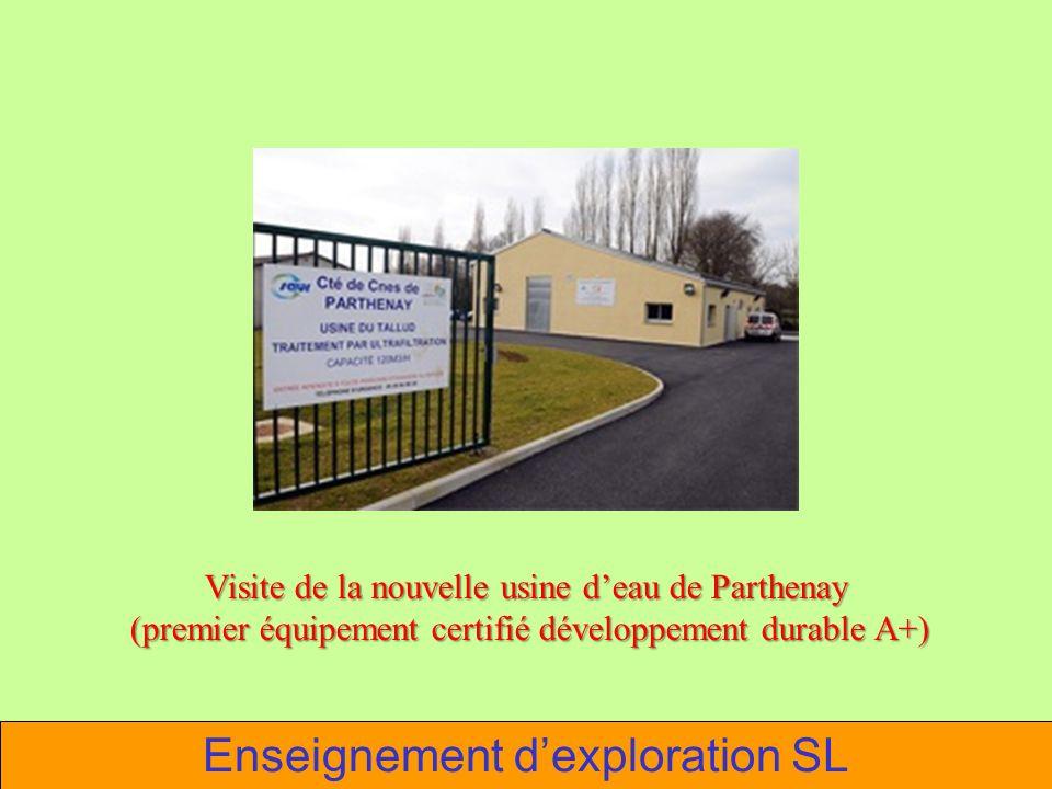 Visite de la nouvelle usine deau de Parthenay (premier équipement certifié développement durable A+) (premier équipement certifié développement durabl