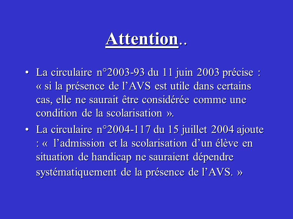Attention..