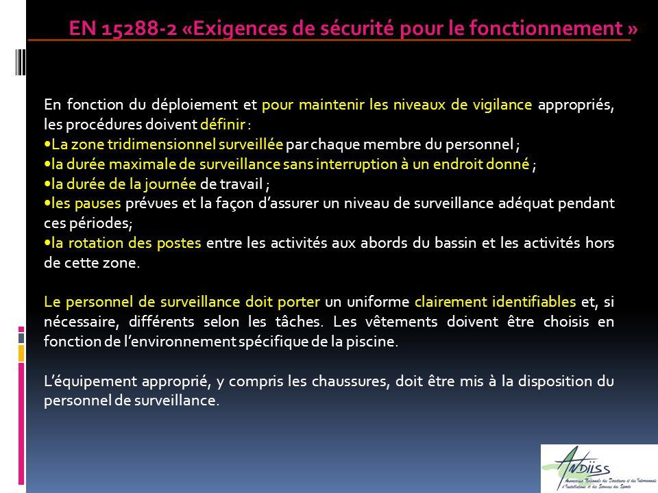 En fonction du déploiement et pour maintenir les niveaux de vigilance appropriés, les procédures doivent définir : La zone tridimensionnel surveillée