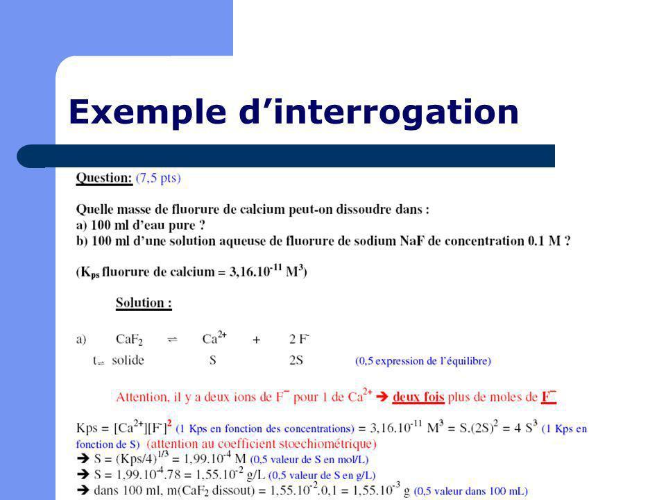 Exemple dinterrogation