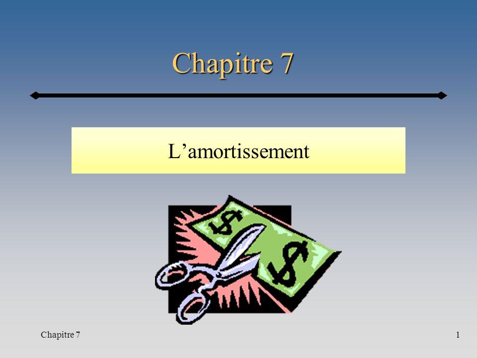 Chapitre 72 Références Sections 7.1 à 7.5 + 7.5.2 Complément de notes p.