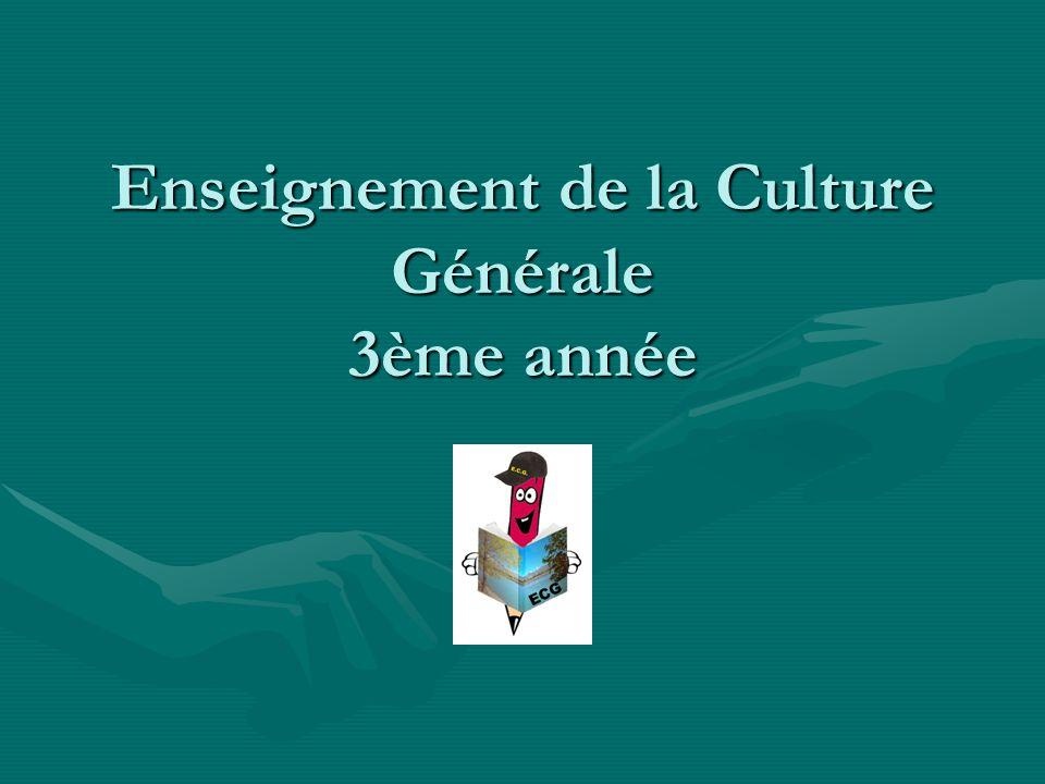 Enseignement de la Culture Générale 3ème année