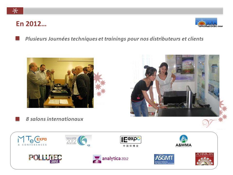 8 salons internationaux En 2012… Plusieurs Journées techniques et trainings pour nos distributeurs et clients