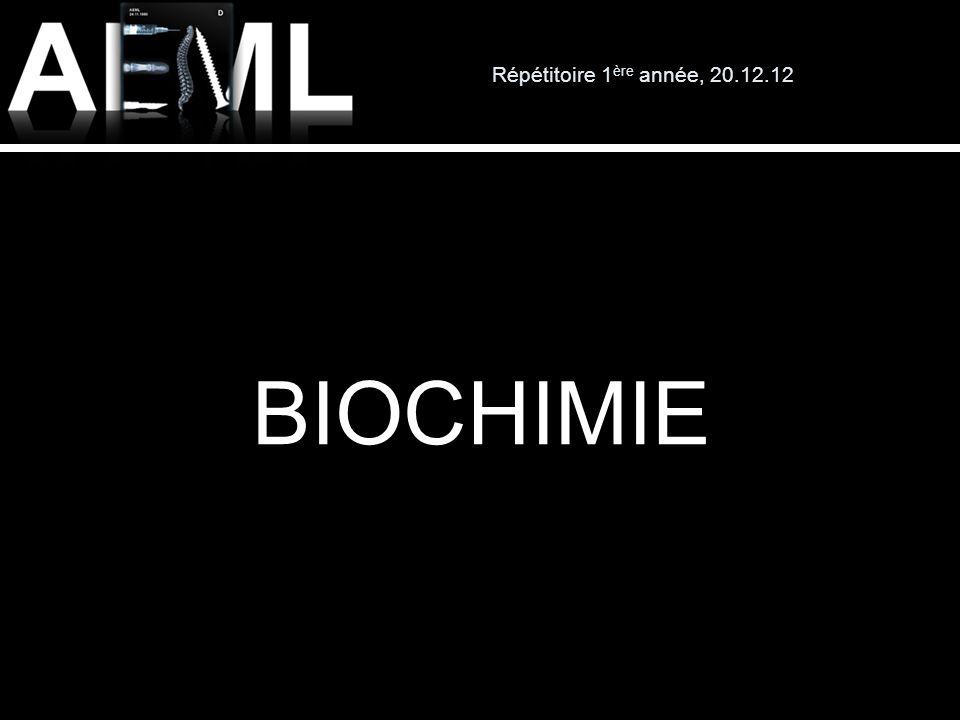 Répétitoire 1 ère année, 20.12.12 Résumé de biochimie Aller sur my.unil.ch Taper : p\pm\pmartel (ou Paul Martel)