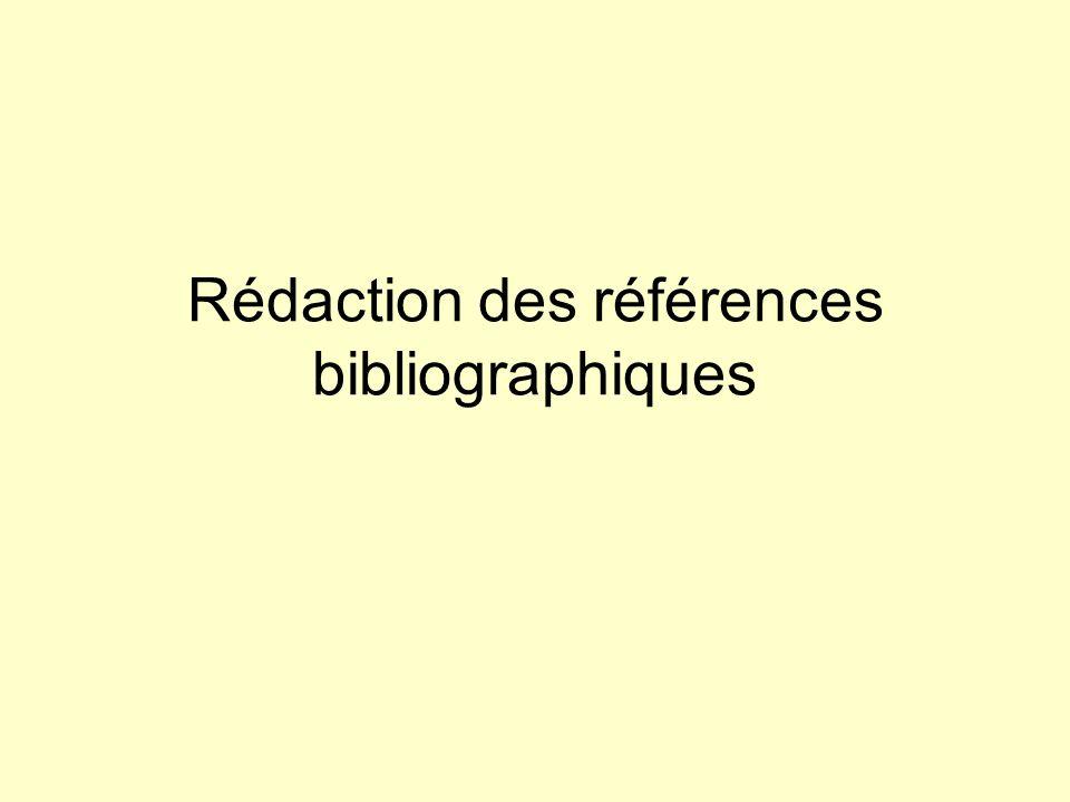 Références bibliographiques Actes de colloque