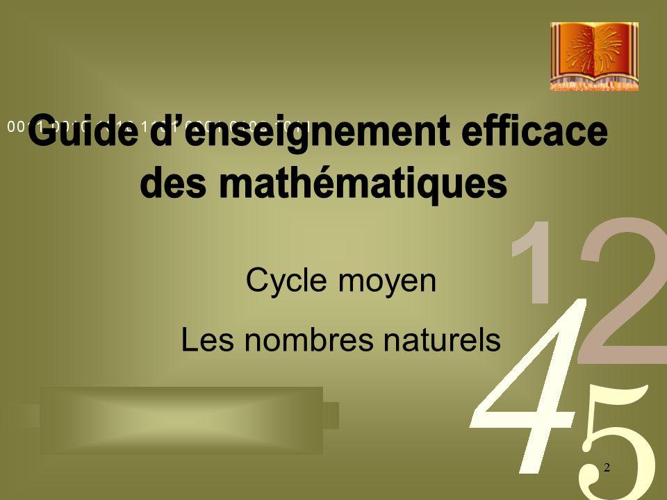 22 Cycle moyen Les nombres naturels