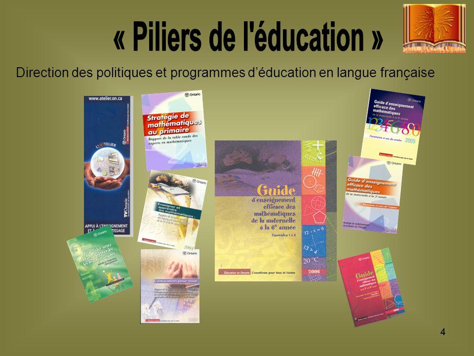 44 Direction des politiques et programmes déducation en langue française