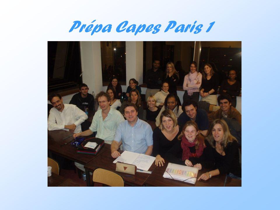 Prépa Capes Paris 1