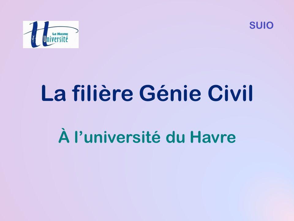 La filière Génie Civil À luniversité du Havre SUIO