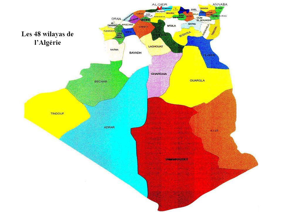 Les 48 wilayas de lAlgérie