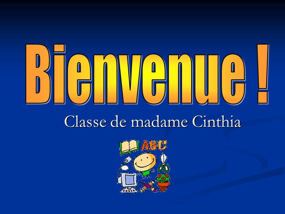 Classe de madame Cinthia
