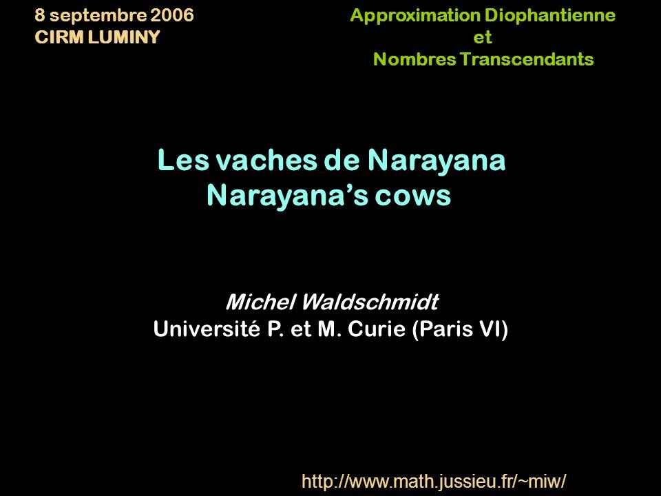 Les vaches de Narayana Musique: Tom Johnson Saxophones: Daniel Kientzy Réalisation: Michel Waldschmidt http://www.pogus.com/21033.html