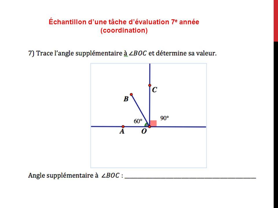 Échantillon dune tâche dévaluation 7 e année (coordination)