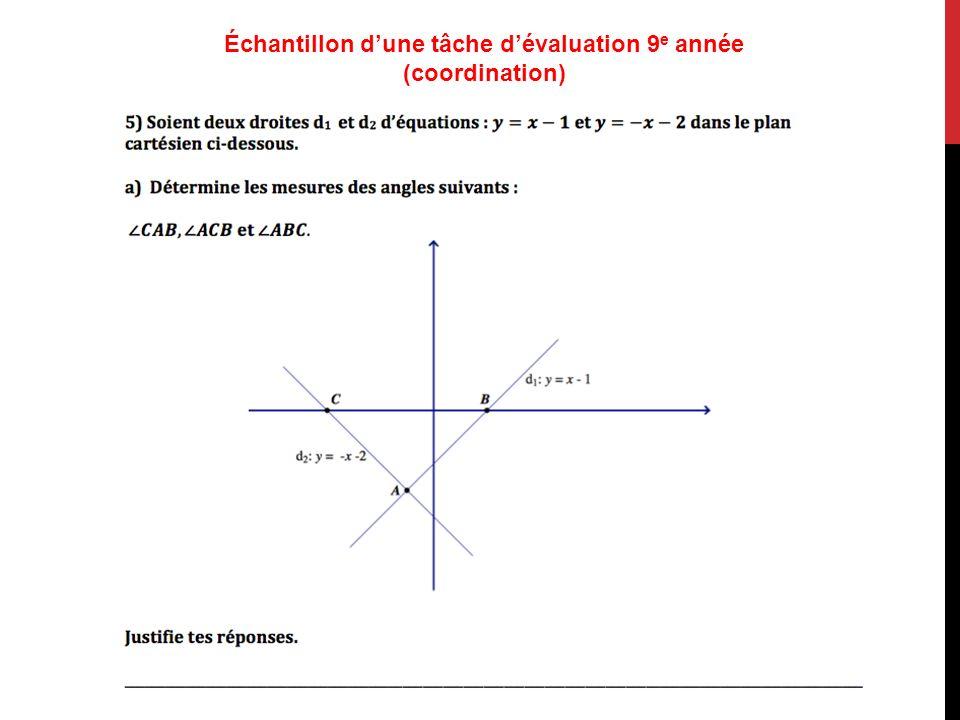 Échantillon dune tâche dévaluation 9 e année (coordination)