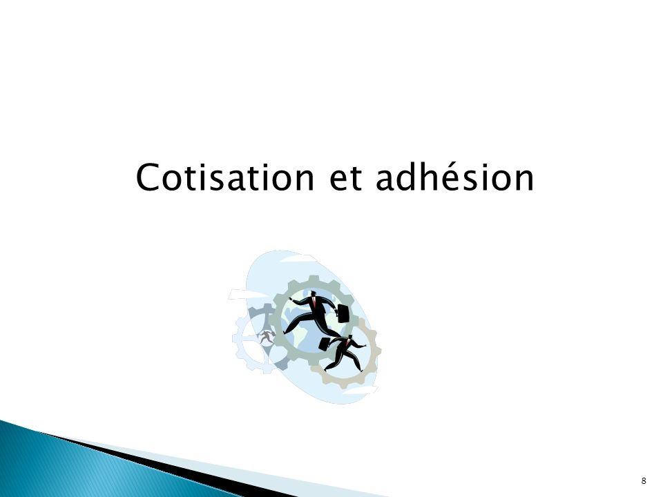 Cotisation et adhésion 8