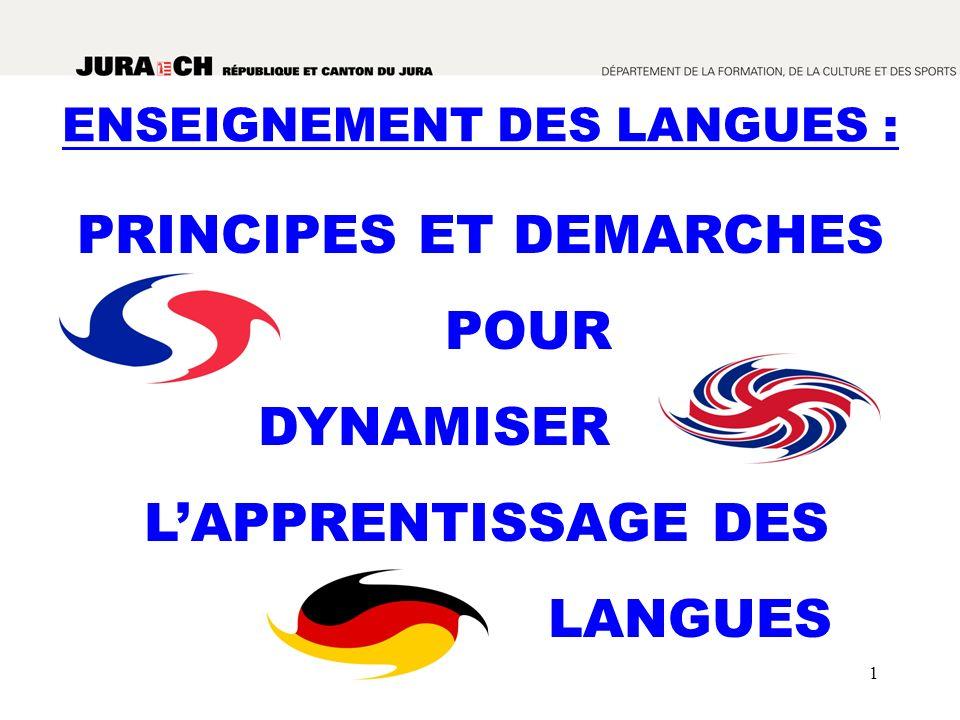 1 PRINCIPES ET DEMARCHES POUR DYNAMISER LAPPRENTISSAGE DES LANGUES ENSEIGNEMENT DES LANGUES :