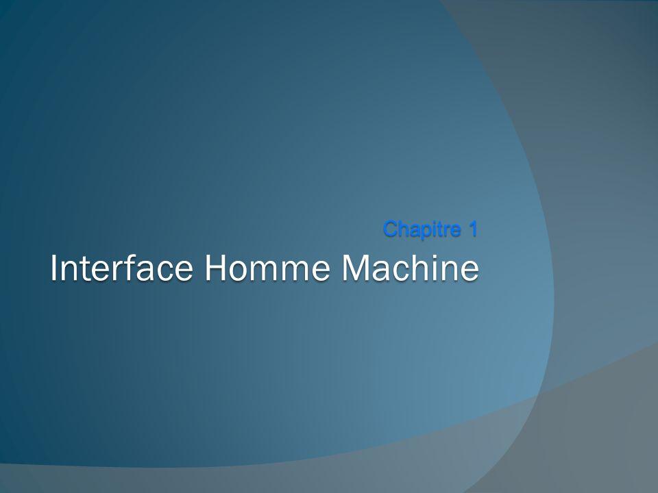 Interface Homme Machine Chapitre 1