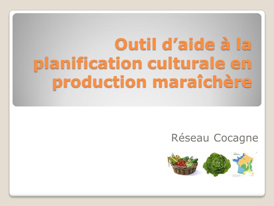 Outil daide à la planification culturale en production maraîchère Réseau Cocagne