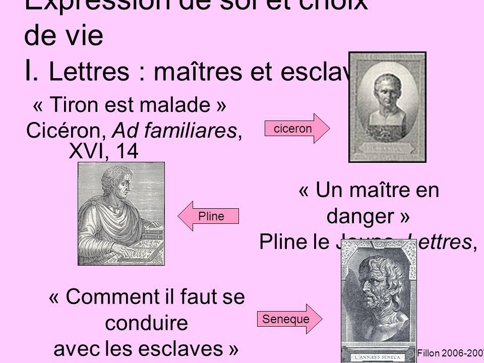 A.Fillon 2006-2007 Expression de soi et choix de vie II.