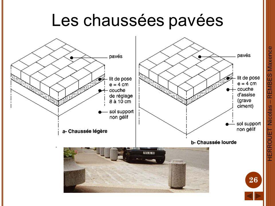 HERROUET Nicolas – REMBES Maxence 26 Les chaussées pavées