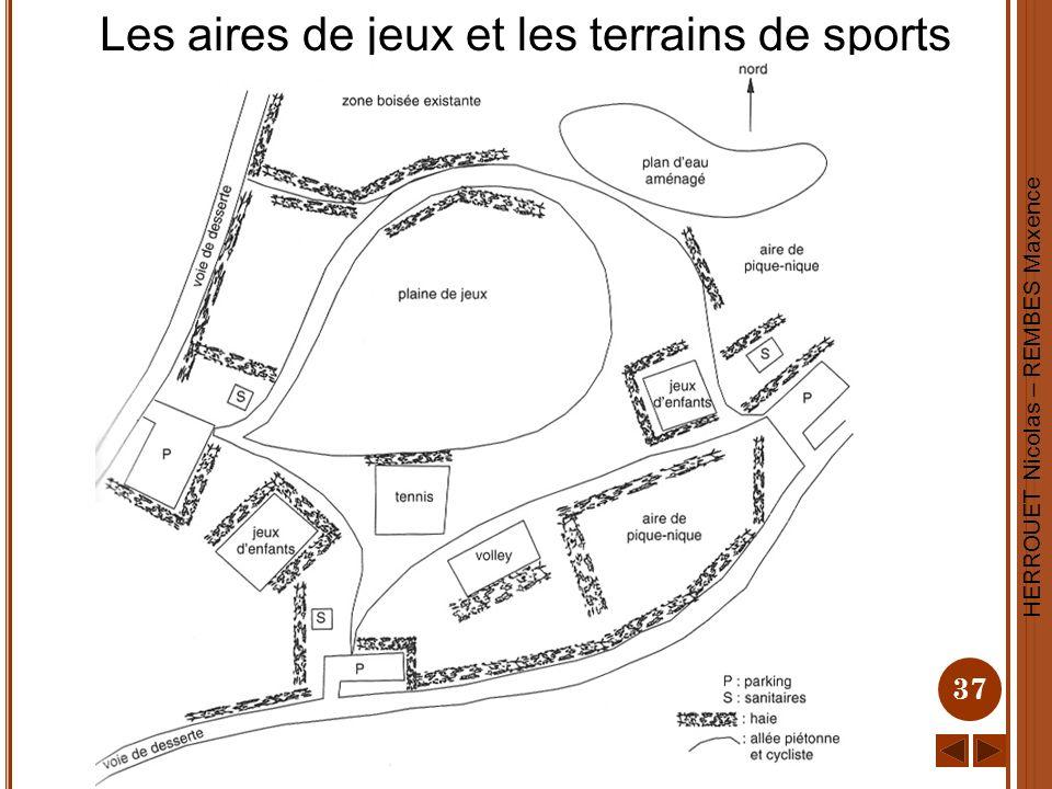 HERROUET Nicolas – REMBES Maxence 37 Les aires de jeux et les terrains de sports