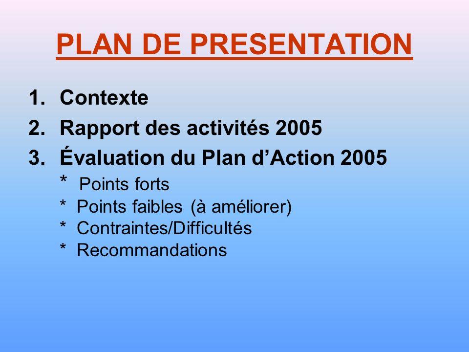 PNLS/EQUATEUR REVUE ANNUELLE ANNEE 2005